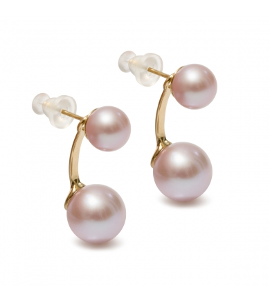 Duo lavender pearl earrings