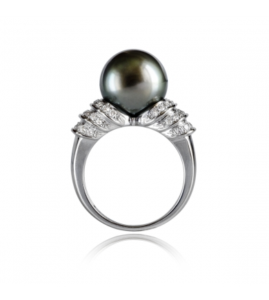 Passion Ring white gold with pearl of Tahiti