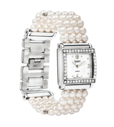 Branded NASON white pearl watches