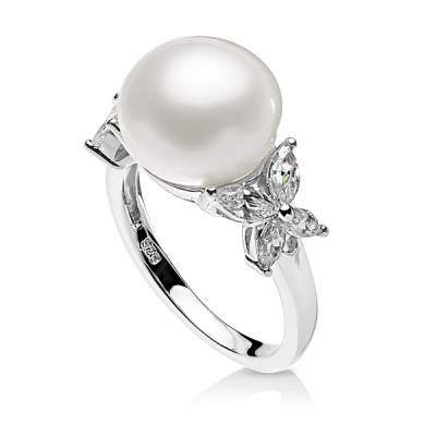"Freshwater pearl ring ""Fancy"". Код 1915"