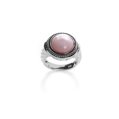 Ring with pink mother of pearl. Код 947