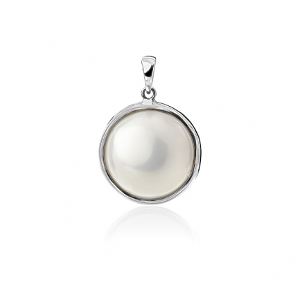 Mabe Pearl white gold pendant