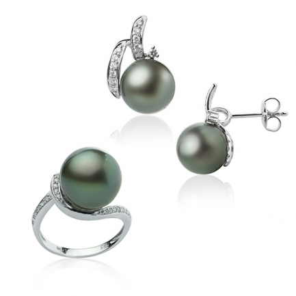 Tahitian pearl gold set