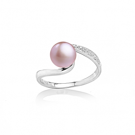 Allegra ring with lavender pearl
