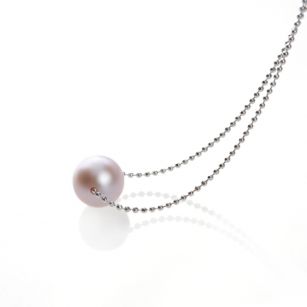 Necklace with lavender pearl
