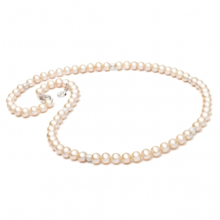 'Hollywood' orange pearl necklace
