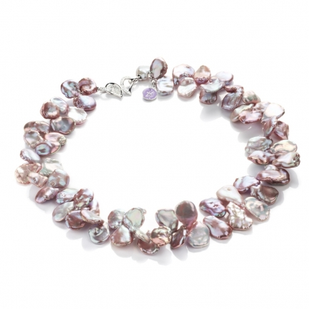 Lavender Keshi pearl necklace