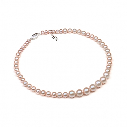 Classic lavender pearl necklace