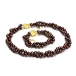 Double strand chocolate pearl set